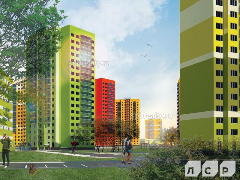 Планировка Четырёхкомнатная квартира площадью 99.6 кв.м в ЖК «Новая Охта»